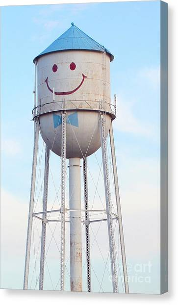 Smiley The Water Tower Canvas Print