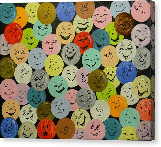 Smilies Canvas Print