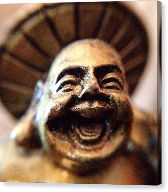 Gold Canvas Print - Smiling Buddha by Tammy Wetzel