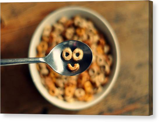 Smiling Cereal Canvas Print by Katesea
