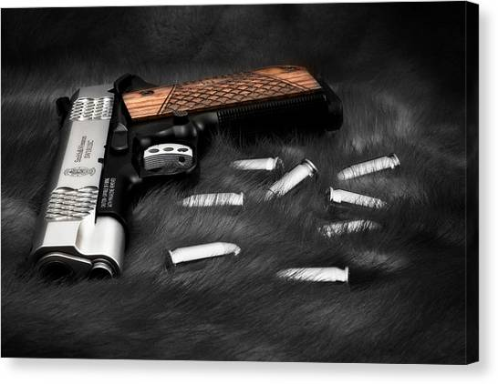 Smith And Wesson 1911sc Still Life Canvas Print