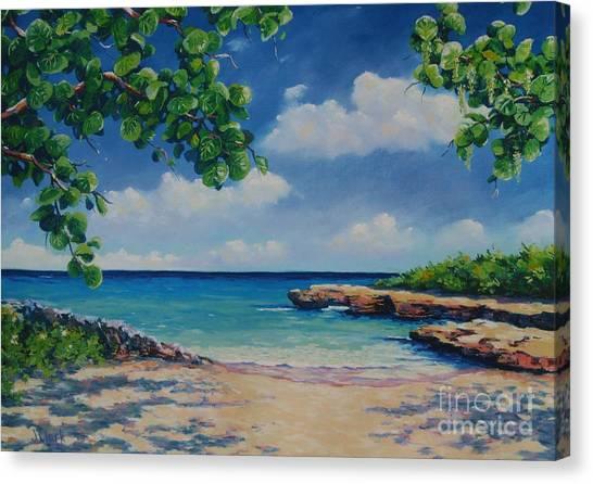 St. Lucia Canvas Print - Smith Cove 16x23 by John Clark