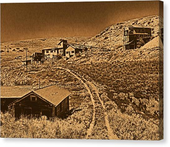 Smith Mine Canvas Print by Leland D Howard