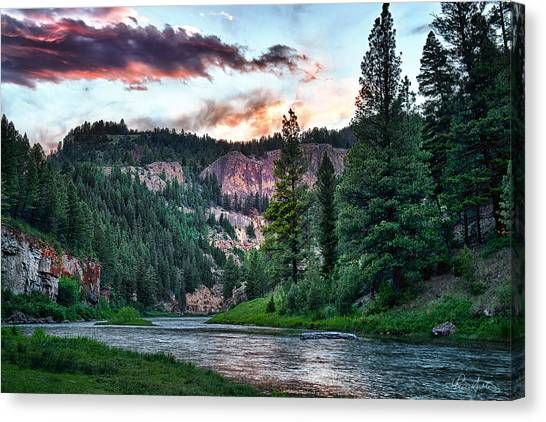 Smith River At Dusk Canvas Print