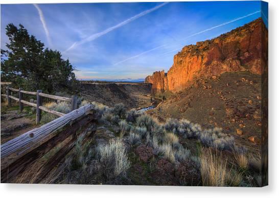 Mountain Cliffs Canvas Print - Smith Rock Oregon by Everet Regal