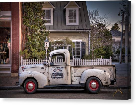 Smithfield Truck Canvas Print by Williams-Cairns Photography LLC