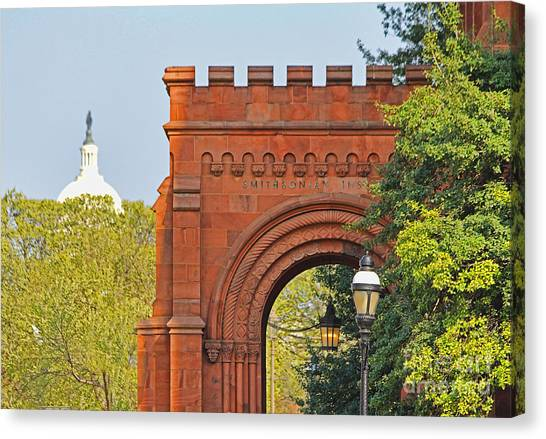 Smithsonian Institute Canvas Print - Smithsonian Entrance 1136 by Jack Schultz