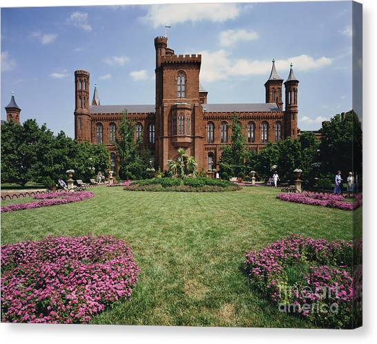 Smithsonian Institute Canvas Print - Smithsonian Institution Building by Rafael Macia