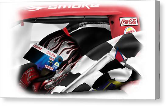 Tony Stewart Canvas Print - Smoke 2 by Mike Shaw