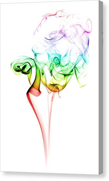 Smokey Canvas Print - Smoke And Colours by Samuel Whitton