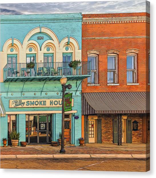 Smokehouses Canvas Print - Smoke House by Maria Coulson