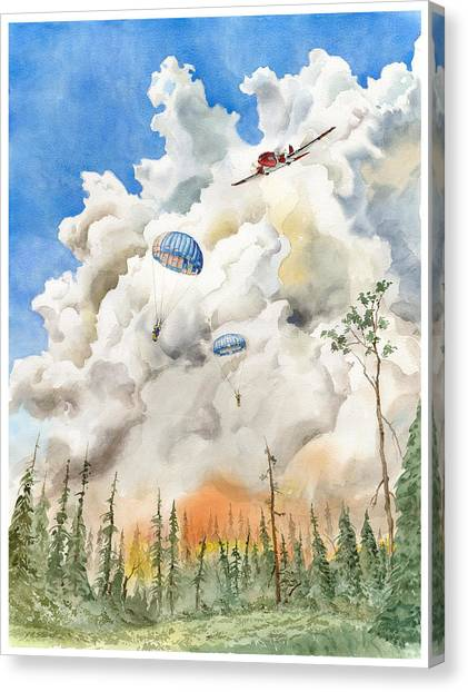 Smoke Jumpers Canvas Print