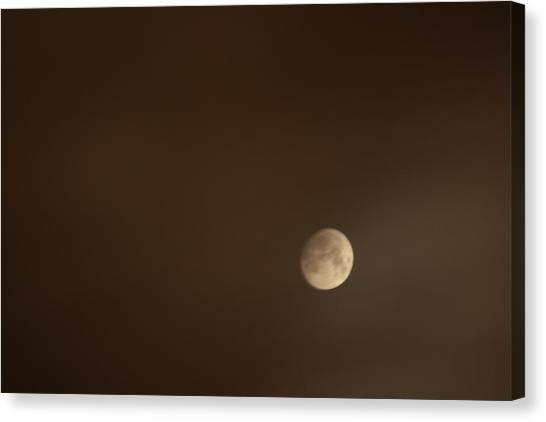 Moon Canvas Print - Smoke Lit Moon by Jason Huffman