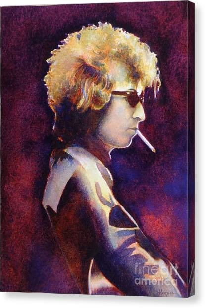 Bob Dylan Canvas Print - Smoke by Robert Hooper