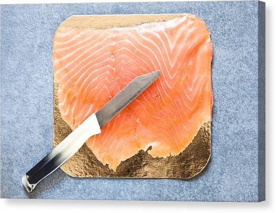 Fillet Canvas Print - Smoked Salmon by Tom Gowanlock