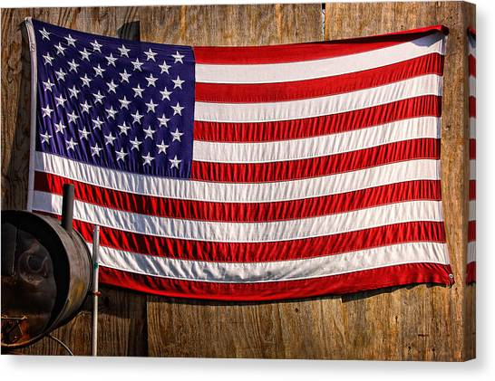 Canvas Print featuring the photograph Smoker Flag by Steve Stanger
