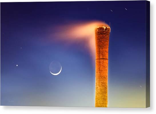 Moon Canvas Print - Smokestack Nightsky by Bob Orsillo