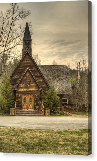 Smokey Mountain Love Chapel 2 Canvas Print