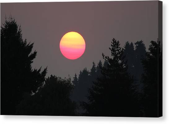 Smokey Sunrise Canvas Print
