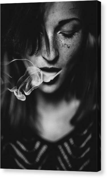 Soul Canvas Print - Smokey by Yannick Desmet