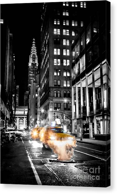 London Tube Canvas Print - Smoking Streets Of New York  by Az Jackson