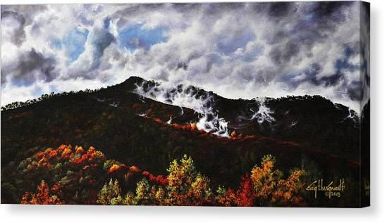 Smoky Mountain Angel Hair Canvas Print