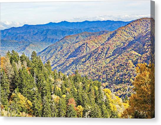 Smoky Mountain Autumn Vista Canvas Print