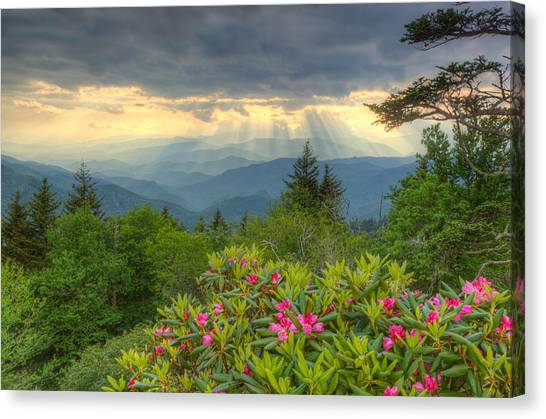 Spring Sunset - Great Smoky Mountains Canvas Print