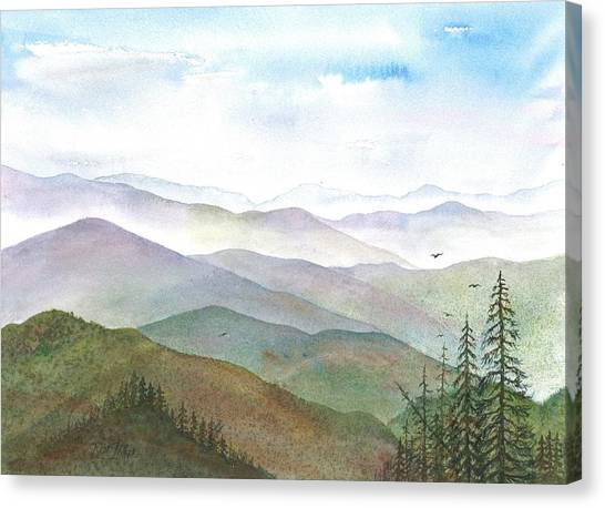 Smoky Mountain Morning Canvas Print by Rosie Phillips