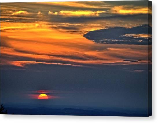 Smoky Mountain Sunset 1 Canvas Print