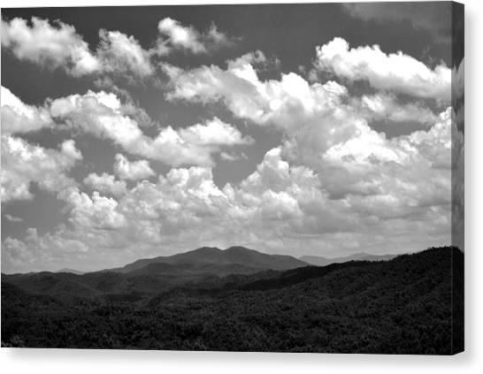 Smoky Peaks And Sky 2 Canvas Print