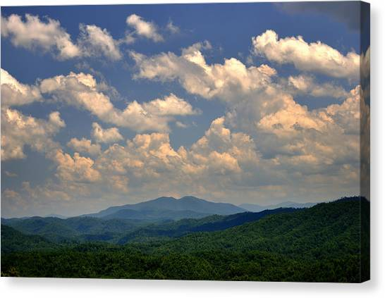 Smoky Peaks And Sky Canvas Print