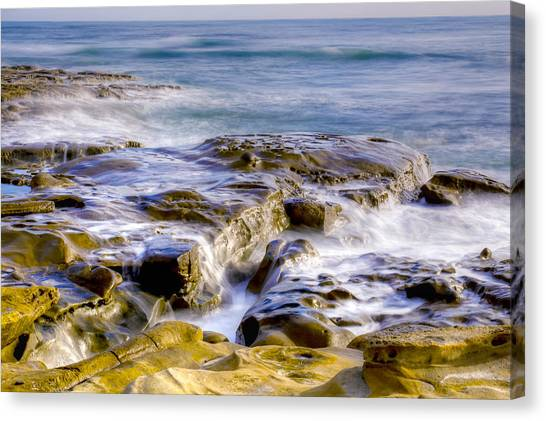 Smoky Rocks Of La Jolla Canvas Print