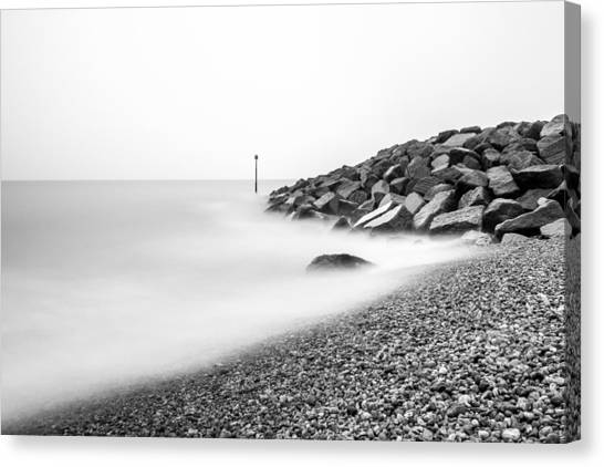 Canvas Print featuring the photograph Smoky Water. by Gary Gillette