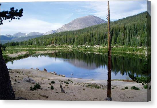 Smooth Lake Reflection Canvas Print