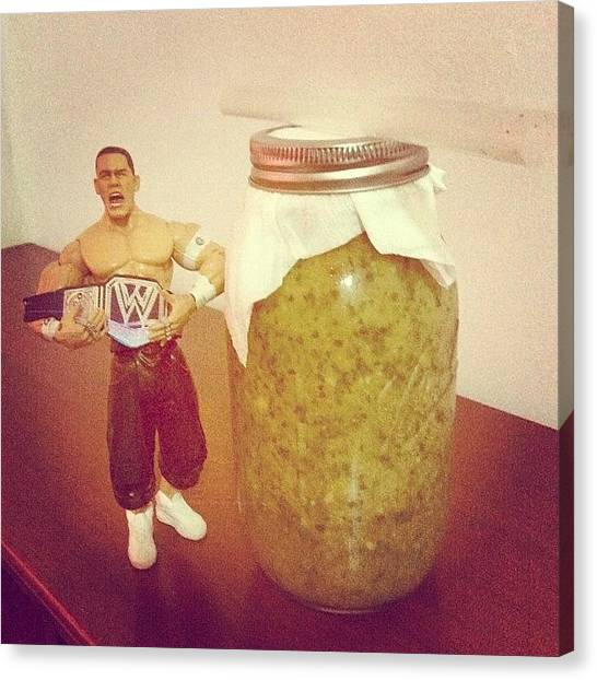 Wwe Canvas Print - #smoothies #green #wwe #cena #cenation by Rene anthony Ninte