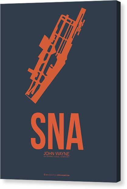 Los Angeles California Canvas Print - Sna Orange County Airport Poster 1 by Naxart Studio