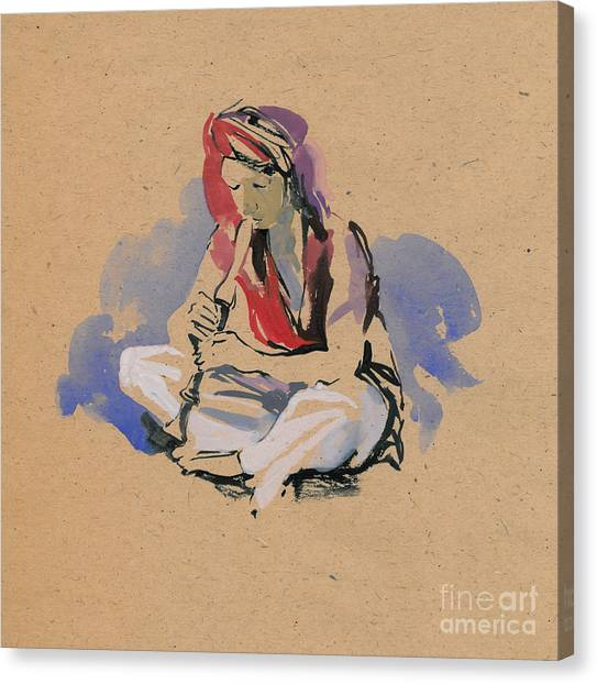 The Exorcist Canvas Print - Snake-charmer by Konstantin Boreo