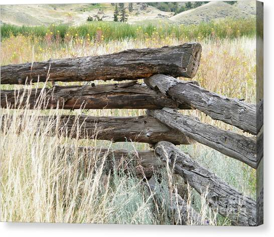 Canvas Print featuring the photograph Snake Fence And Sage Brush by Ann E Robson