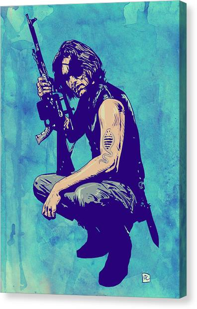 80s Canvas Print - Snake Plissken by Giuseppe Cristiano