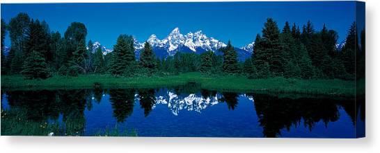 Wy Canvas Print - Snake River & Teton Range Grand Teton by Panoramic Images