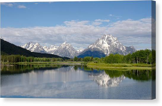 Snake River In Grand Teton  Canvas Print