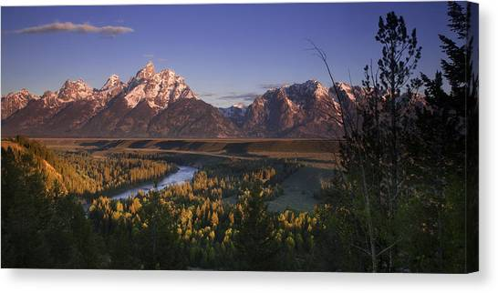 Teton Canvas Print - Snake River Panorama by Andrew Soundarajan