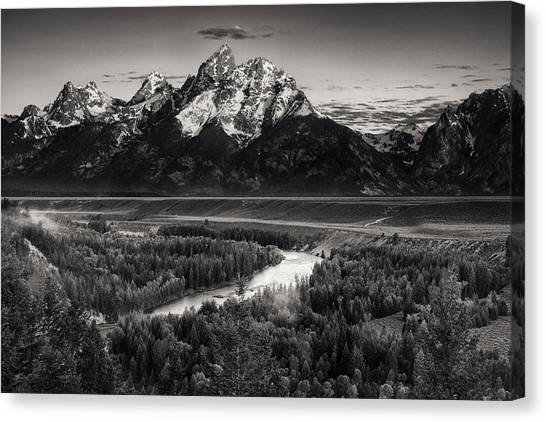 Teton National Forest Canvas Print - Snake River View by Andrew Soundarajan