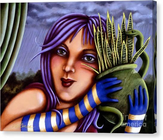 Snake Snakeplant Canvas Print
