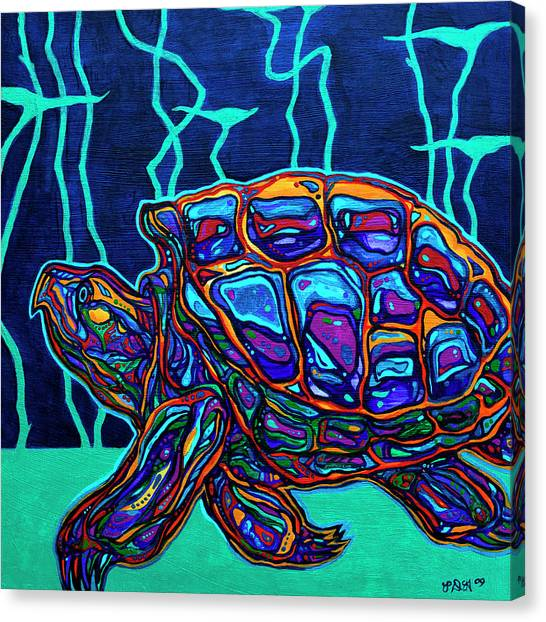 Snapping Turtles Canvas Print - Snapper by Derrick Higgins