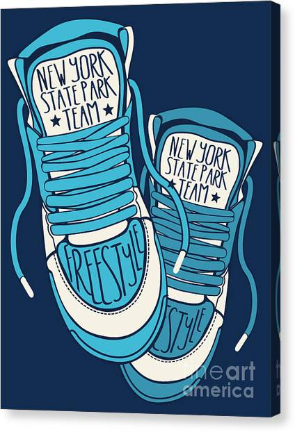 Clothing Canvas Print - Sneakers Graphic Design For Tee by Braingraph