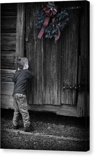 Canvas Print featuring the photograph Sneaking A Peek by Kelly Hazel