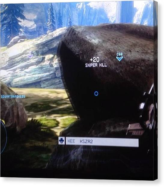 Xbox Canvas Print - #sniper #halo #halo4 #hater by Keenan Zimmerman