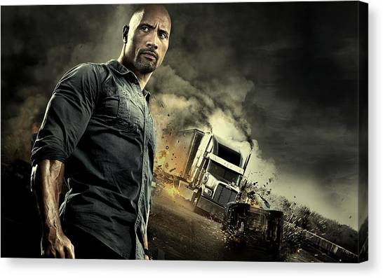Dwayne Johnson Canvas Print - Snitch Dwayne Johnson  by Movie Poster Prints